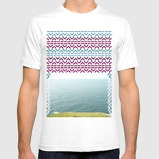 AZTEC 'Beyond The Sea' 1-2 SMALL White Mens Fitted Tee