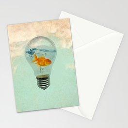 goldfish thinking Stationery Cards