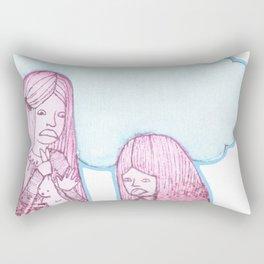 Rabbit Girls Rectangular Pillow