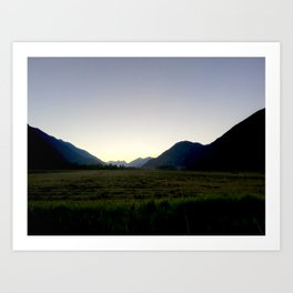 Tranquil mountains dusk Art Print