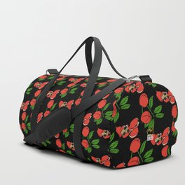 Ackee on Black Duffle Bag