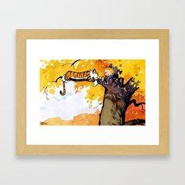 calvin and hobbes sleep Framed Art Print