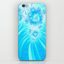 Abstract Christmas Ice Garden iPhone Skin