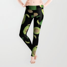 Avocado gen z fashion apparel food fight gifts black Leggings