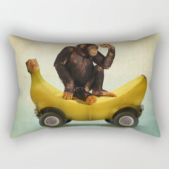 Chimp my Ride Rectangular Pillow