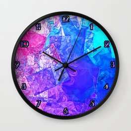 Textured Paper Overlay Wall Clock