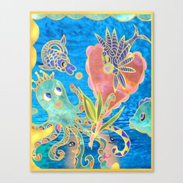 friendship ocean Canvas Print
