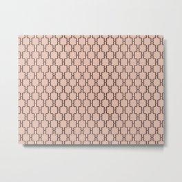 Brown & Pink Brackets Metal Print