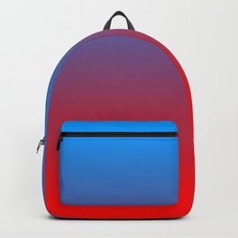 Blue & Red Ombre Backpack