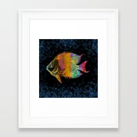 fish Framed Art Prints featuring  Fish by Vitta
