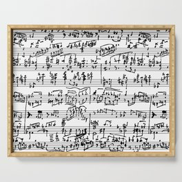 Hand Written Sheet Music Serving Tray