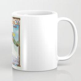 Lake Huron Vintage travel poster. Coffee Mug