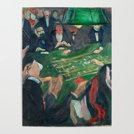 At the Roulette Table in Monte Carlo by Edvard Munch Poster