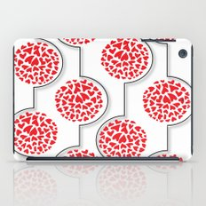 Red Hearts In A Row iPad Case