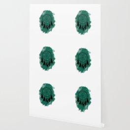 Dreamcatcher crow: Green background Wallpaper