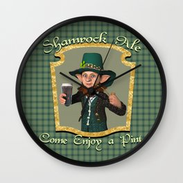 Shamrock Ale Wall Clock