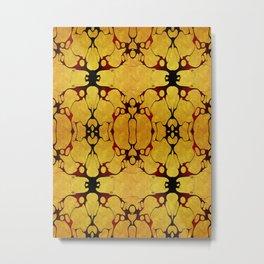 Extraterrestre amarillo Metal Print