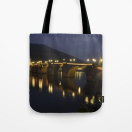 Heidelberg Bridge by night Tote Bag