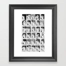 humans Framed Art Print