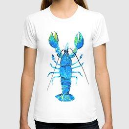 Cobalt blue Lobster T-shirt
