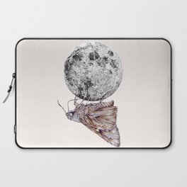 In which a moth is enticed by the light of the moon Laptop Sleeve