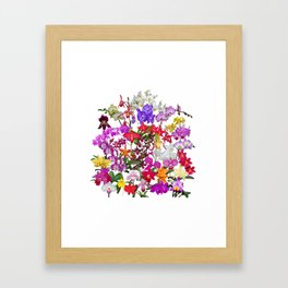 A celebration of orchids Framed Art Print