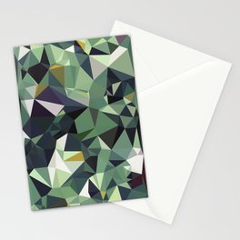 Martinique Low Poly Stationery Cards