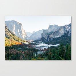 Foggy Valley Sunrise Canvas Print