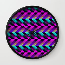 Dark Purple Wall Clock