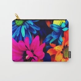Neon Daisies Carry-All Pouch