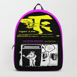TIGER LEE ...black poster in yellow Backpack