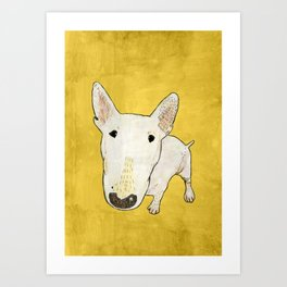 English Bull Terrier pop art Art Print