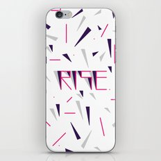 Rise No.2 - White iPhone & iPod Skin