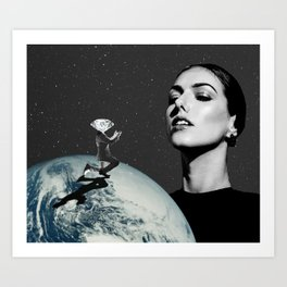 Diamond in the Sky Art Print