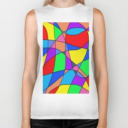 Colourful Squares Biker Tank