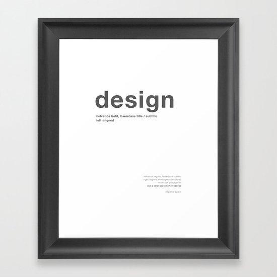 Helvetica Framed Art Print