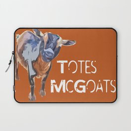 """Totes McGoats!"" ~ Nigerian Dwarf Goat Pop Art Photography!  Gotta Love the Goaty-Woaties! Laptop Sleeve"