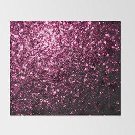 Beautiful Dark Pink glitter sparkles Throw Blanket