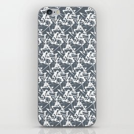 White noise lines on Volcanic Glass color ( Blue ) iPhone Skin