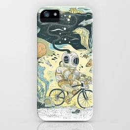 Cycling in the Deep iPhone Case