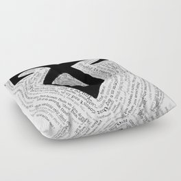 Shadowhunters QuoteRune Floor Pillow