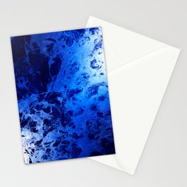 Blue Marble Dream Abstract Stationery Cards