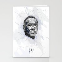 house of cards Stationery Cards featuring House of Cards - Frank Underwood by teokon