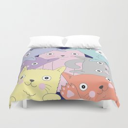 Curious Cats Duvet Cover