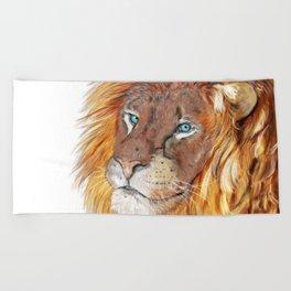 Colourful Lion Beach Towel