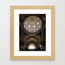 Window and Dome, St. Stephen Basilica, Budapest Framed Art Print