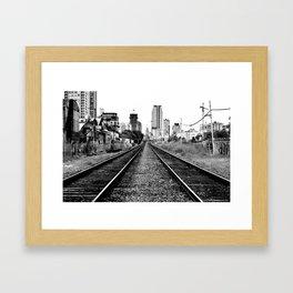 Road to progress Framed Art Print