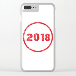 Ink Stamp 2018 Clear iPhone Case