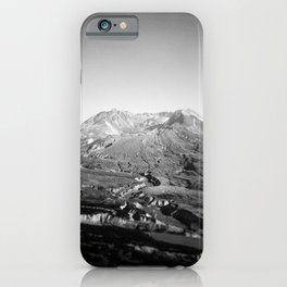 Mount St. Helens in Black and White - Holga Photograph iPhone Case