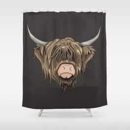 Highland Cow Shower Curtain